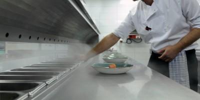 Cool-Spot-Küche, gekühlte Arbeitsfläche, gekühlten Durchreiche
